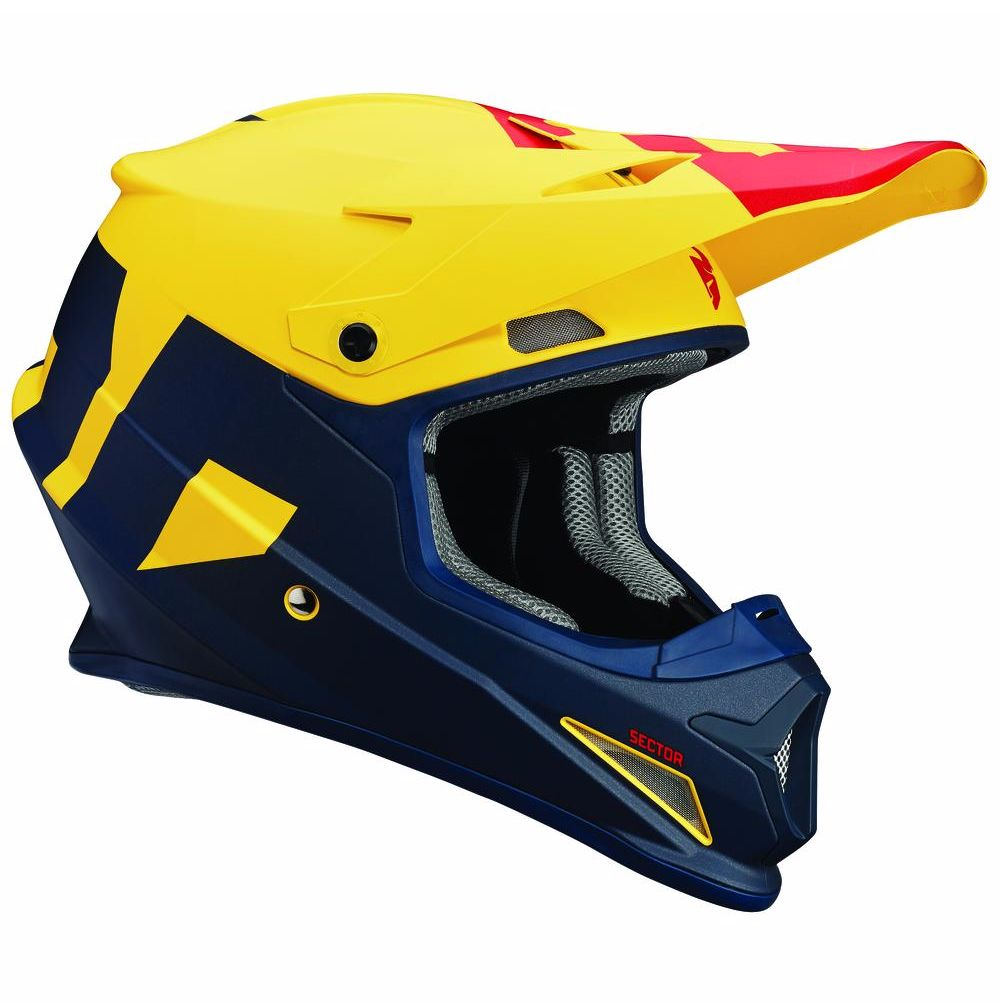 Casco da cross Thor SECTOR - LEVEL - MAT BLU GIALLO 2019