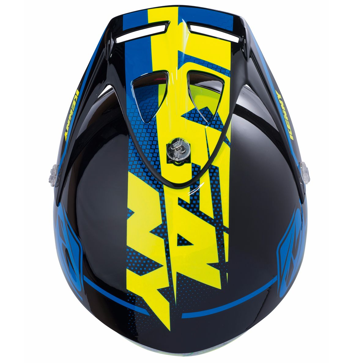 Casco trial Kenny TRIAL UP - BLU GIALLO FLUO - 2019