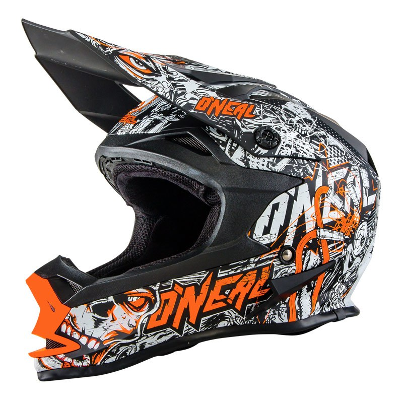 Casco da cross O'Neal SERIES 7 EVO MENACE  ORANGE 2018