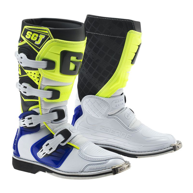 Stivali da cross Gaerne SG.J  WHITE/BLUE/YELLOW FLUO BAMBINO