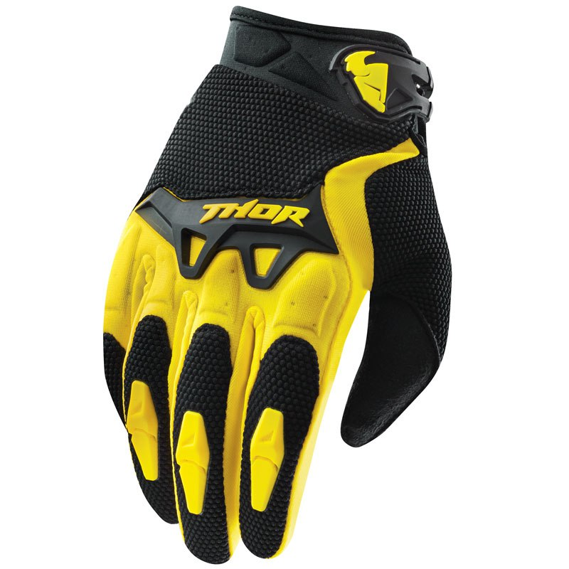 Guanti da cross Thor YOUTH SPECTRUM GIALLO