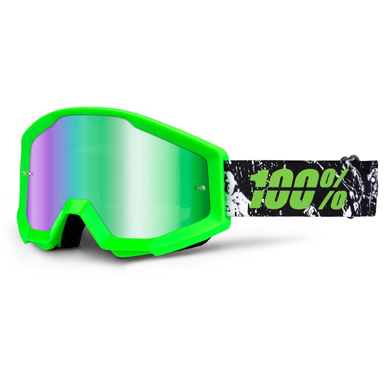 Maschera da cross 100% STRATA - GRAFTY LIME IRIDIUM LENS  2018