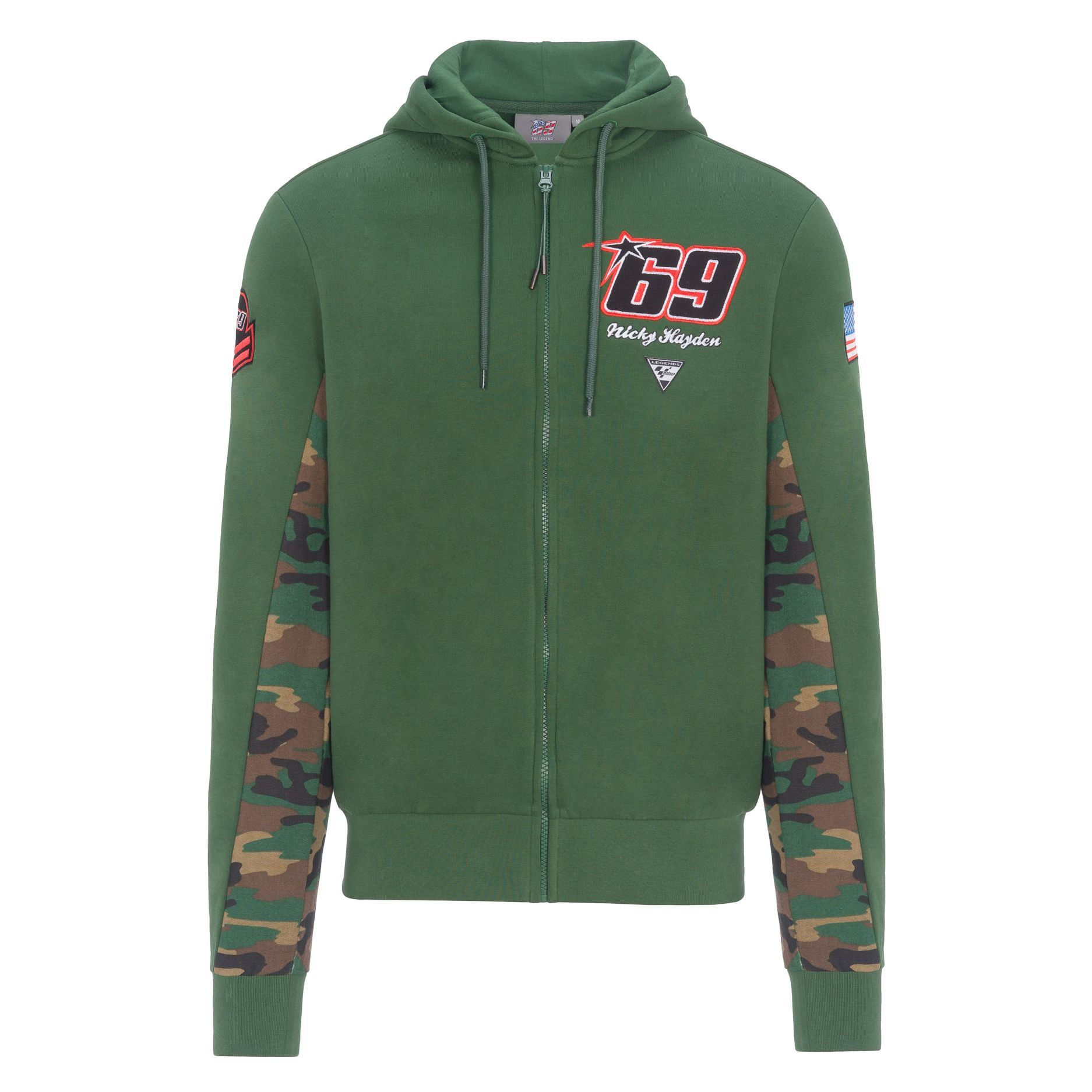 Felpa GP 69 NICKY HAYDEN ZIPPED