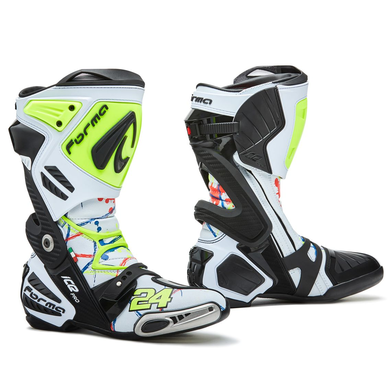 Stivali Forma ICE PRO REPLICA CORSI MOTO2 - Stivali e scarpe moto 1c3f3314047