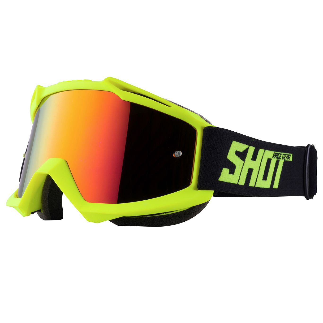 Maschera da cross Shot IRIS NEON YELLOW MATT 2021