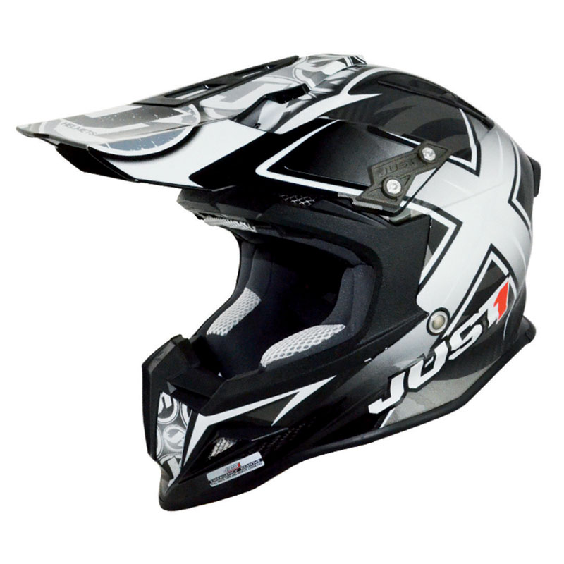Casco da cross JUST1 J12 - MISTER X CARBONIO NERO 2017