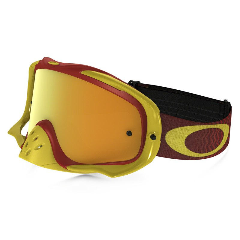 Maschera da cross Oakley CROWBAR MX  - SHOCKWAVA RED YELLOW LENS IRIDIUM + CLEAR 2021