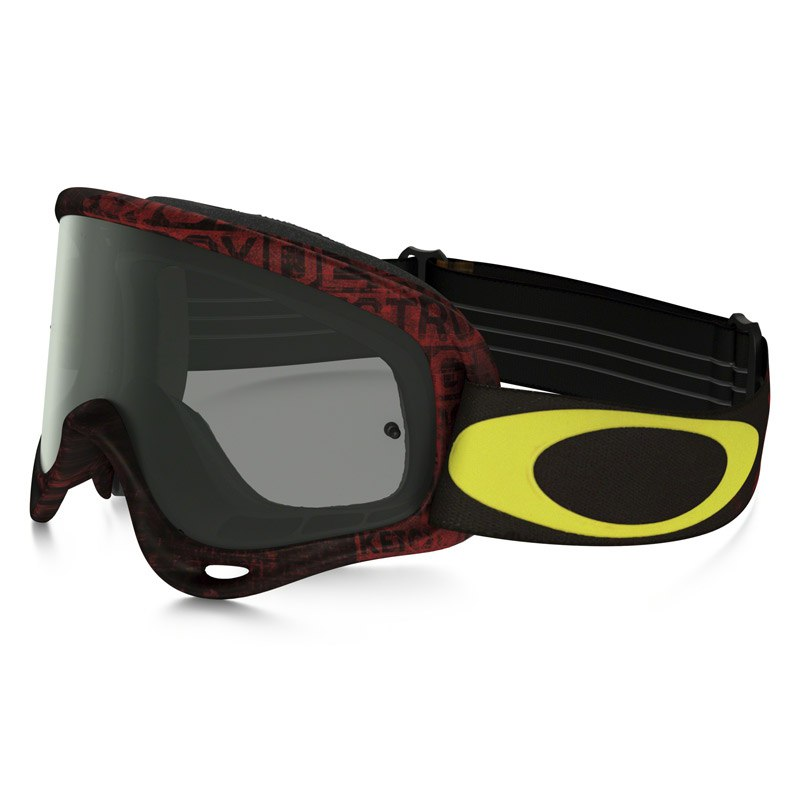 Maschera da cross Oakley O FRAME MX  - DISTRESS TAGLINE RED YELLOW LENS DARK GREY 2016