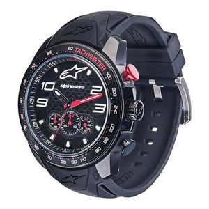 TECH - RACE CHRONO BLACK - SILICON STRAP BLACK