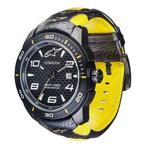 TECH 3H - RACE BLACK YELLOW - LEATHER STRAP BLACK YELLOW