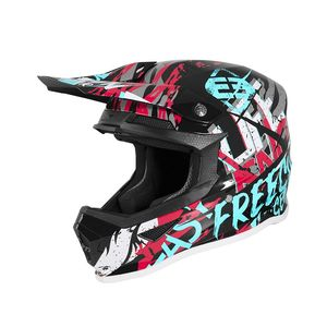 XP-4 - MANIAC - BLACK TURQUOISE PINK GLOSSY