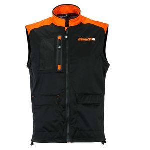 BODYWARMER + - BLACK NEON ORANGE