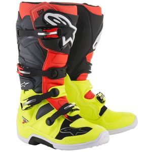 TECH 7 YELLOW FLUO RED FLUO GRAY BLACK