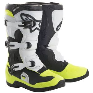 TECH 3S BLACK WHITE YELLOW FLUO BAMBINO