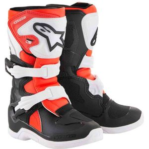 TECH 3S KIDS - BLACK WHITE RED FLUO