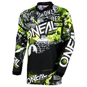 Maglia da cross ELEMENT - ATTACK - BLACK HI-VIZ
