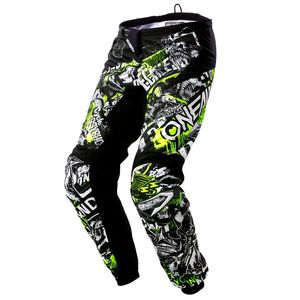 Pantaloni da cross ELEMENT - ATTACK - BLACK HI-VIZ