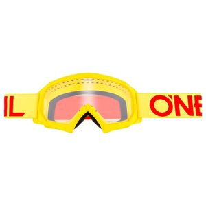 B-10 YOUTH - SOLID GIALLO FLUO ROSSO - VISIERA TRASPARENTE -