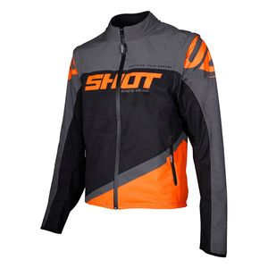SOFTSHELL LITE - GREY NEON ORANGE