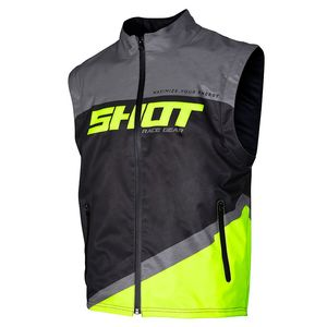 BODYWARMER LITE - GREY NEON YELLOW