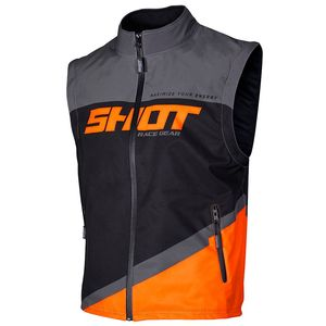 BODYWARMER LITE - GREY NEON ORANGE