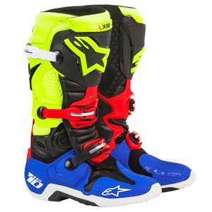 TECH 10 BLACK/YELLOW/BLUE/RED