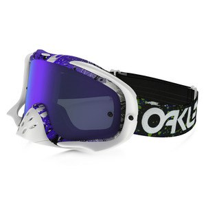 CROWBAR MX  - FACTORY PILOT SPLATTER GREEN PURPLE LENS IRIDIUM + CLEAR