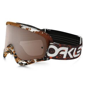 O FRAME MX  - FACTORY PILOT SPLATTER BLOOD ORANGE LENS IRIDIUM + CLEAR