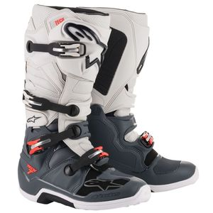 TECH 7 DARK GRAY LIGHT GRAY RED FLUO