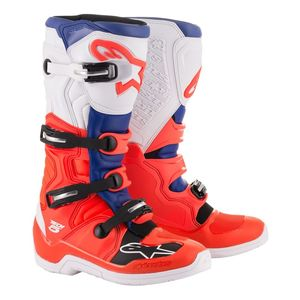TECH 5 RED FLUO BLUE WHITE