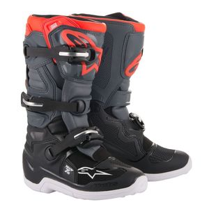 TECH 7S BLACK DARK GRAY RED FLUO