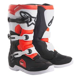 TECH 3S BLACK WHITE RED FLUO BAMBINO