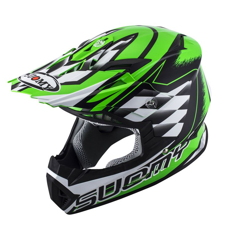 Casco da cross Suomy RUMBLE STROKE GREEN  2017