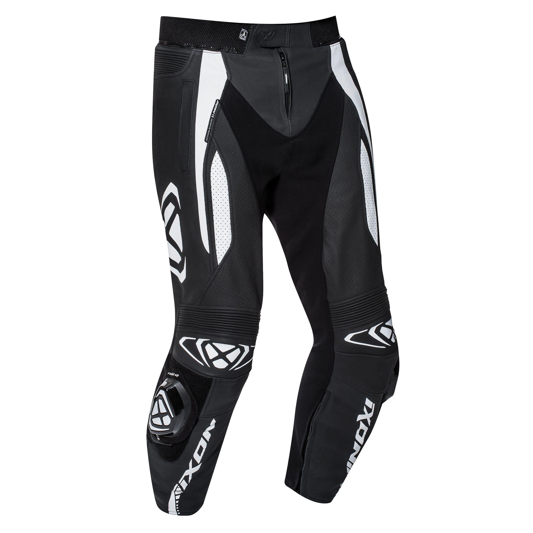Tutte Le Taglie in Pelle di Vacchetta Pantaloni da Uomo per Motociclismo con saponette