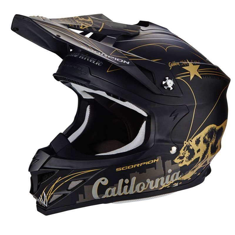 Casco da cross Scorpion Exo VX-15 EVO AIR - GOLDENSTATE 2017