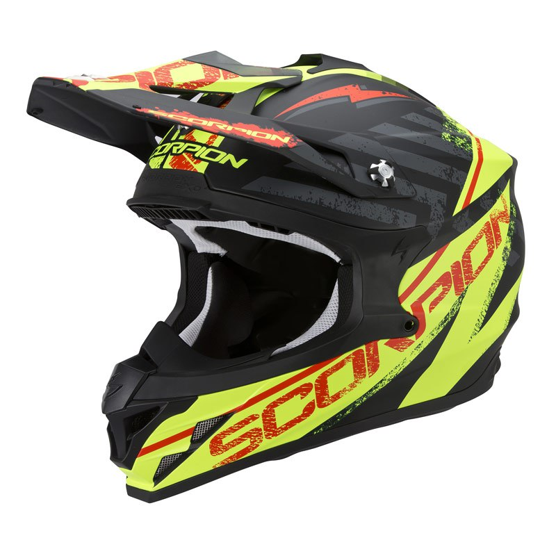Casco da cross Scorpion Exo VX-15 EVO AIR - GAMMA NERO GIALLO FLUO 2017