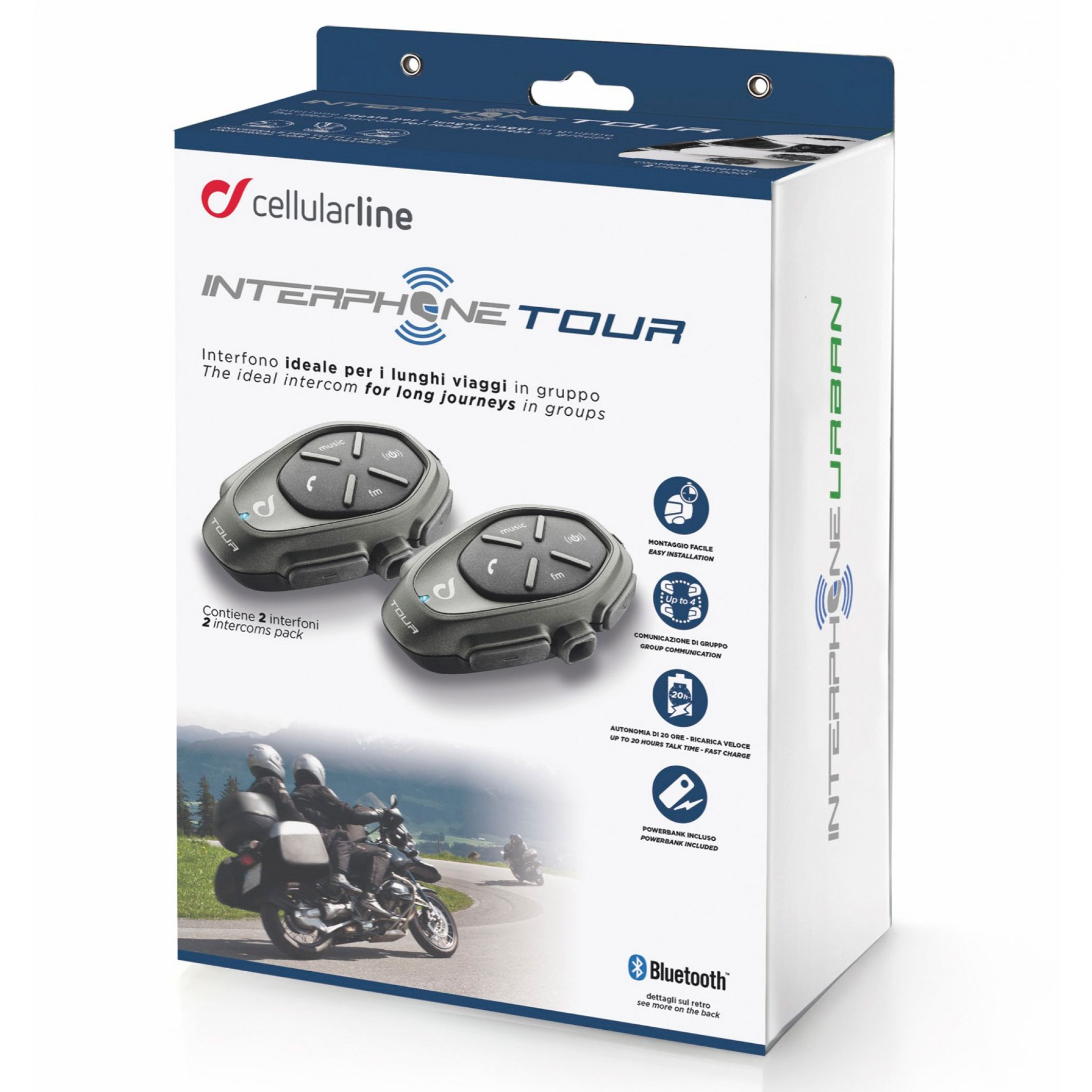 Interfono Cellular line TOUR TWIN PACK